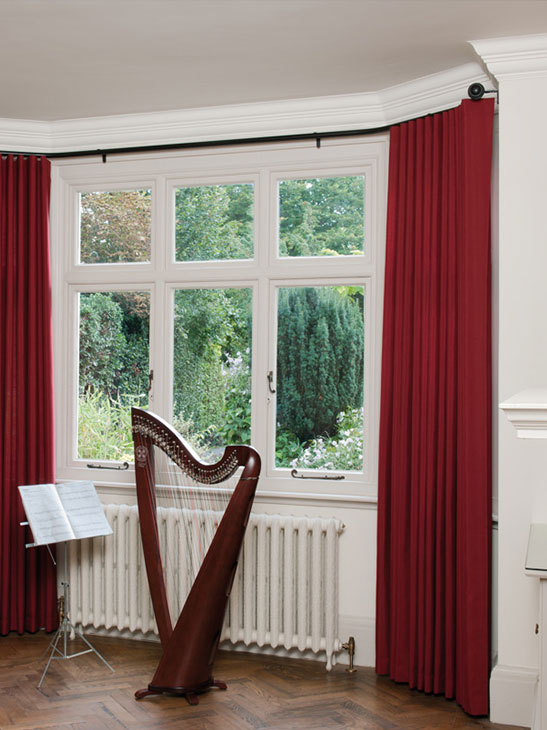 Silent Gliss Curtains & Track