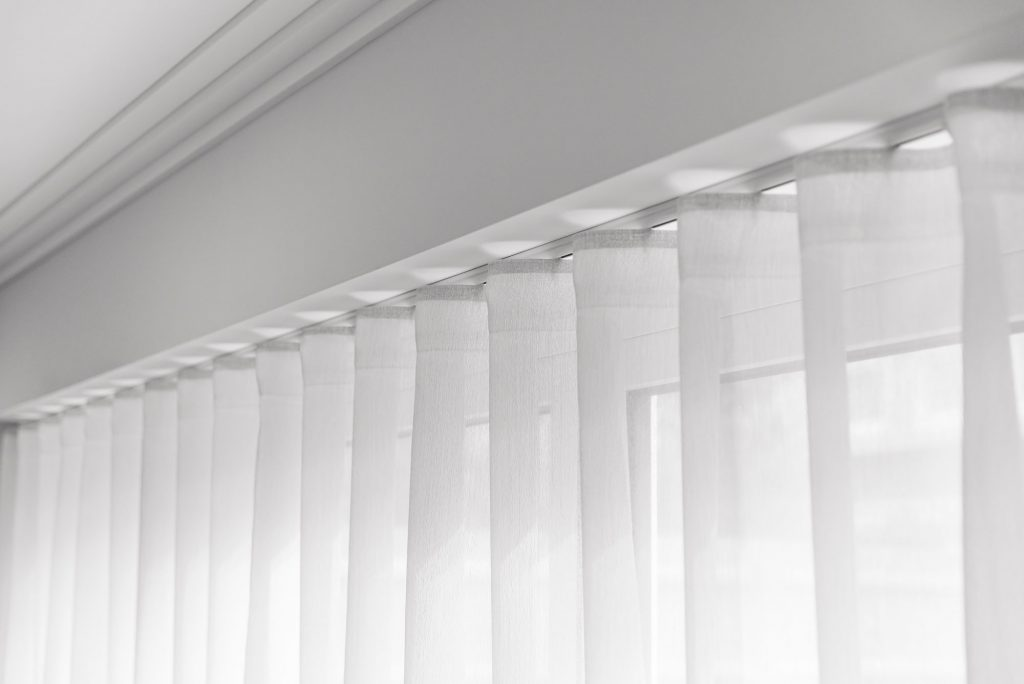 Poole silent gliss curtain