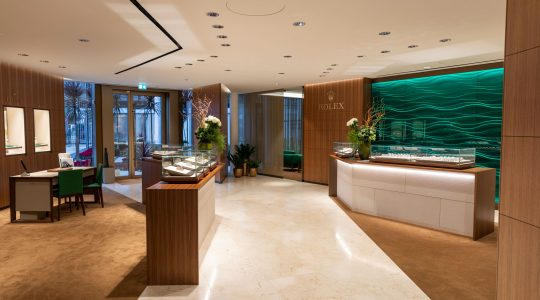 Commercial Curtains for Rolex Retail Showroom in Knightsbridge London