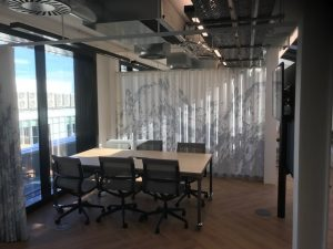 Soundproof acoustic curtains in Central London Offices