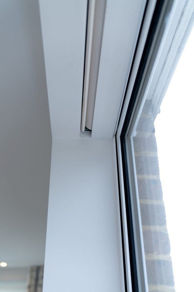 Silent Gliss recessed electric roller blinds